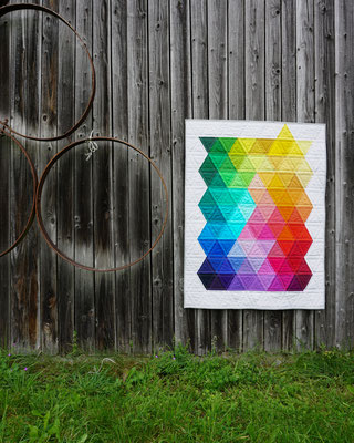 """Rainbow Triangles"" - Inspired by Jaybird Quilts"