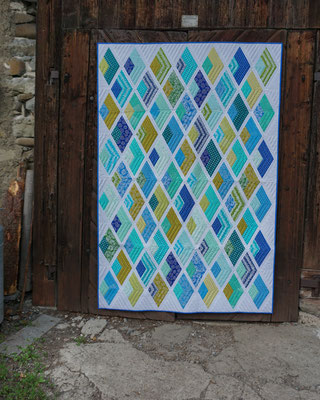 """Boomerang With Sashing"" - Pattern by Jaybird Quilts"