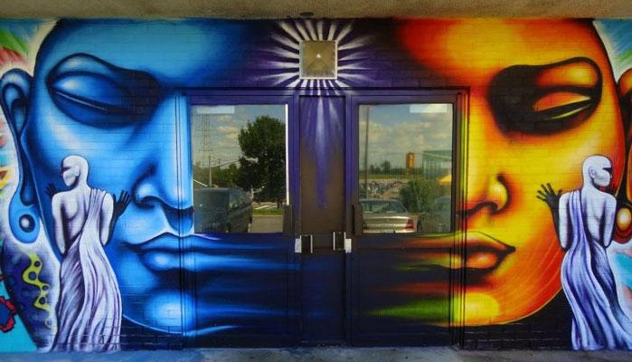 """Beloved"", Detail of mural by Shalak. Toronto, Canada. 2011 (4123 Jane street - San Romano way)"