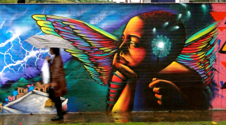 """Angel""   We are the warriors and protectors of our own dreams... Mural by Shalak, Porto Alegre, Brazil, Sept. 2012"