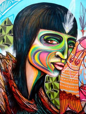 """Carnaval""  Detail of mural by Shalak. Sao Paulo, Brazil. 2013 (Rua Rodolfo Bardella & rua Parapua)"