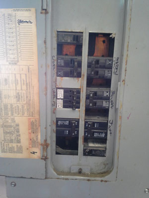 Electrical panel is not in compliance