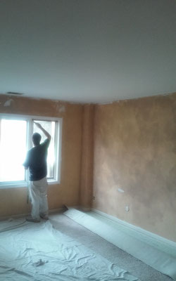 Master bedroom priming and painting