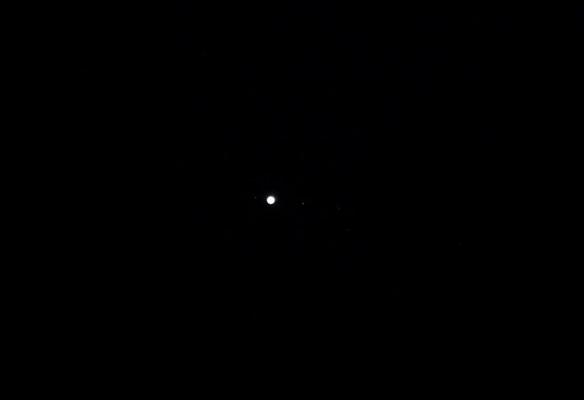 Jupiter und Monde am 02.04.2014, 19:43 Uhr MESZ