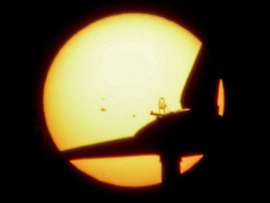 Sonne am 14.12.2013 mit Flecken