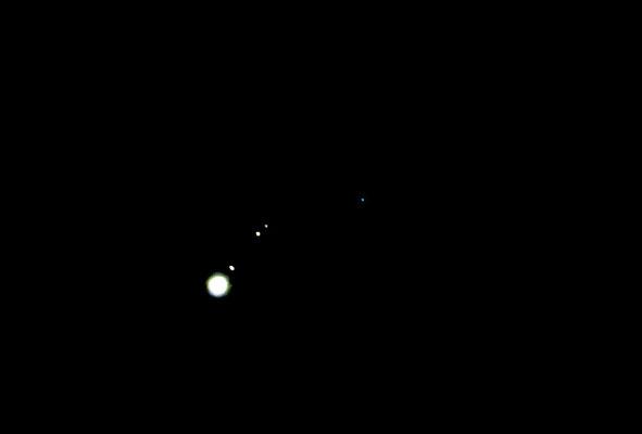 Jupiter mit seinen Monden am 05.01.2014 (Opposition)