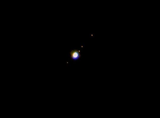 Jupiter mit seinen Monden am 12.01.2014