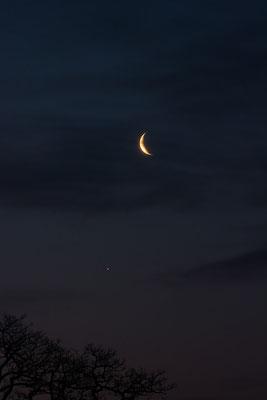 Konjunktion von Mond und Venus am 27.03.2014