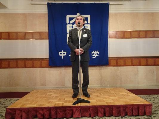 中央大学準硬式野球部OB会 並木日呂忠副会長 挨拶