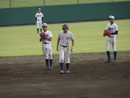 能代松陽高校との合同練習の風景