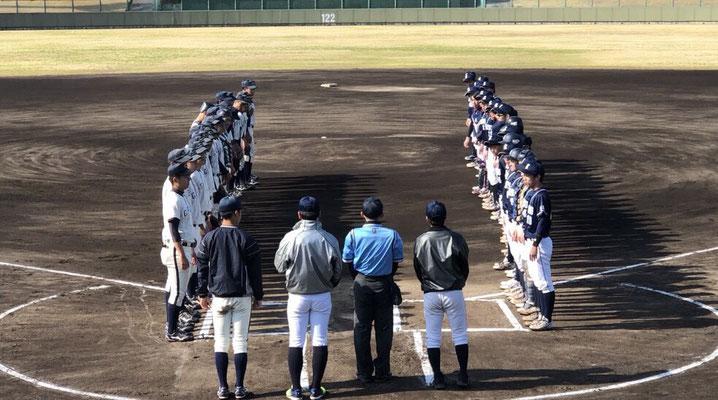 試合開始時の風景。