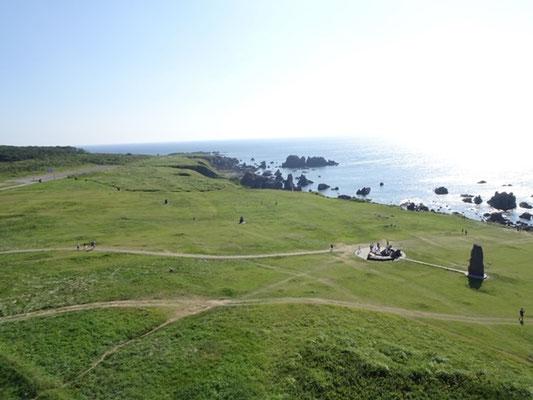 入道崎の灯台からの景色