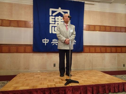 中央大学準硬式野球部応援する会 佐々木吉夫会長 祝辞