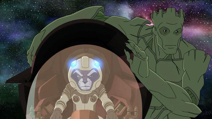 Disney XD Guardians Of The Galaxy Serie - Rocket Raccoon - Groot - kulturmaterial