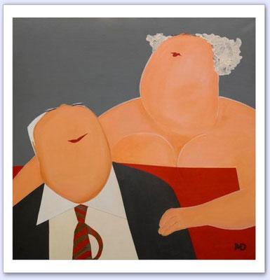 Je bent een vriend van mij - Acrylic on canvas - 100x100