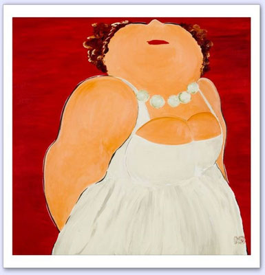 Afspraakje (Madammeke) - Acrylic on canvas - 100x100
