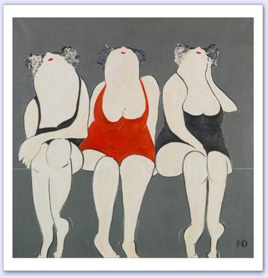 The thin line - Acrylic on canvas - 100x100