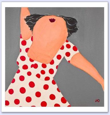 Ze heeft een hart van goud - Acrylic on canvas - 100x100