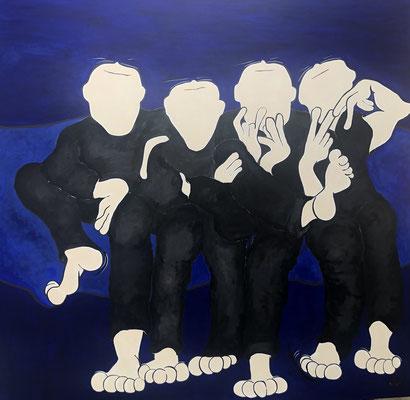 Boys, boys, boys - Acryl - 150x150