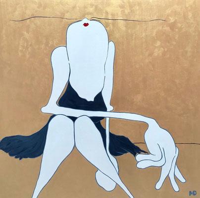 Golden Girl - Acryl - 120x120