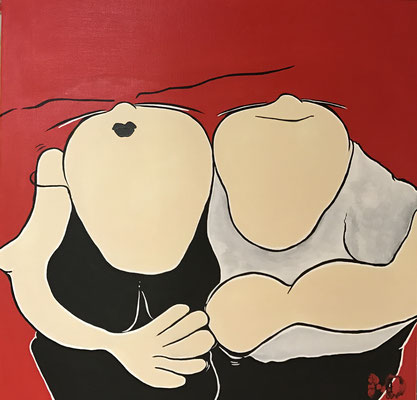 "When Love comes your way"" - Acryl - 50x50"