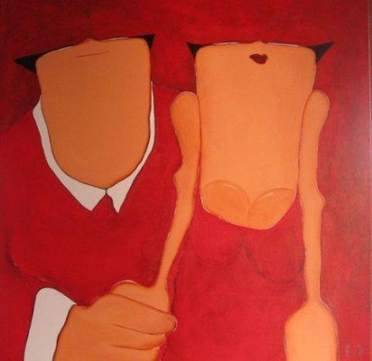 Just the two of us - acrylic on canvas - 100x100