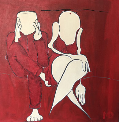 Easy on the heart - Acryl - 50x50