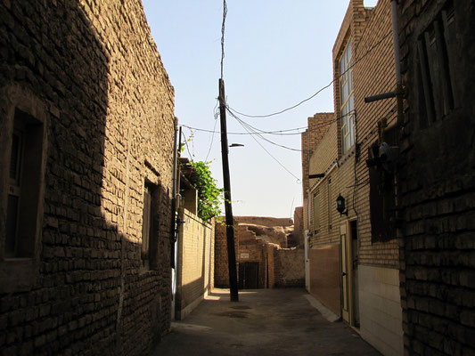 Gasse in Historical center in Yazd