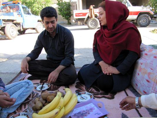 Hassan mit seiner Frau Somayeh
