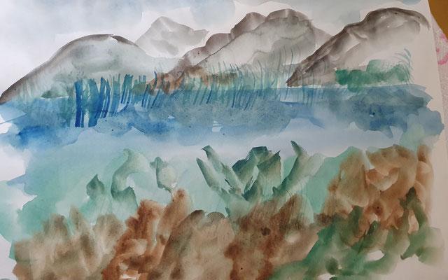 Seelandschaft Aquarell