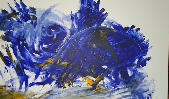 Rhapsodie in blue  70x42 Acryl auf Leinwand