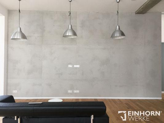 EINHORN WERKE ®  TORINO BETON, Betonoptik, Wandgestaltung, Beton imi tation, Hersteller Exklusiver