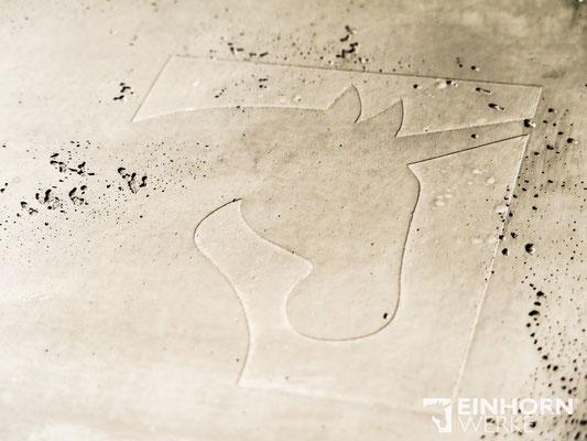 EINHORN WERKE - TORINO BETON No. 0303 + shabby finish schwarz  EINHORN WERKE ® schöne Wände