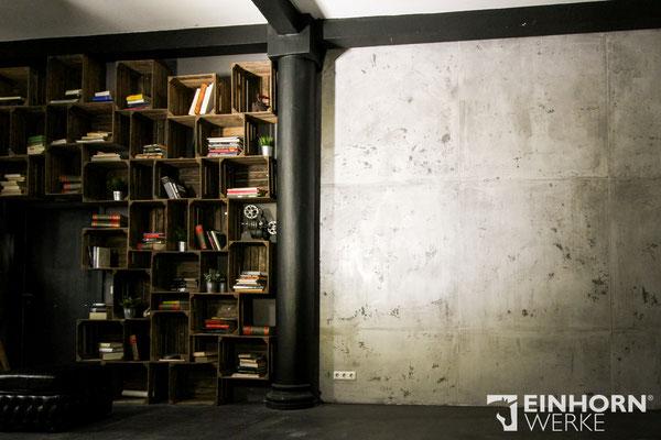 Beton Wände mit Torino Beton von Einhorn Werke