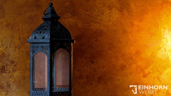 Rostige Wand, Wandgestaltung mit PANDORRA Rostspachtel