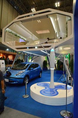 電気自動車LEAFを電源にして生活可能な現代の高床式住居NSH2012