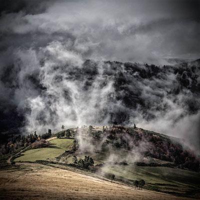 Une épaisse fumée