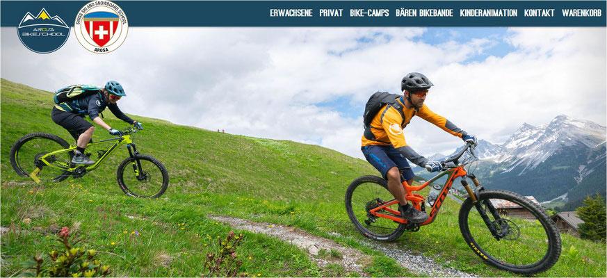 Radurlaub Schweiz - linken Sie die Arosa Seite