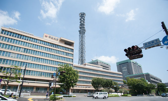 Our office is located right accross the street from Chuo University (Ichigaya Campus)