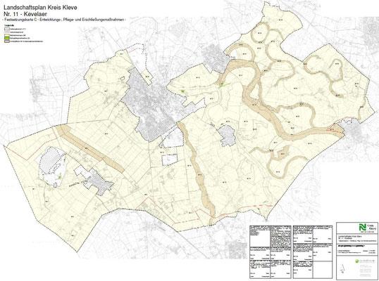 Landschaftsplan  Kevelaer - Festsetzungskarte C - Entwicklungs-, Pflege- und Erschließungsmaßnahmen