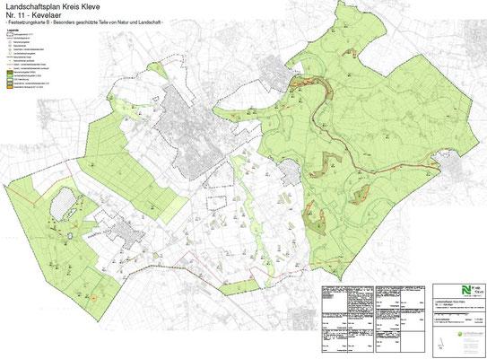 Landschaftsplan Kevelaer - Festsetzungskarte B - Besonders geschützte Teile von Natur und Landschaft
