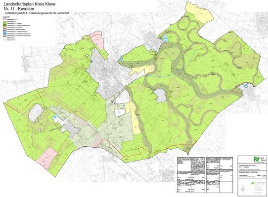 Landschaftsplan Kevelaer - Festsetzungskarte A - Entwicklungsziele für die Landschaft
