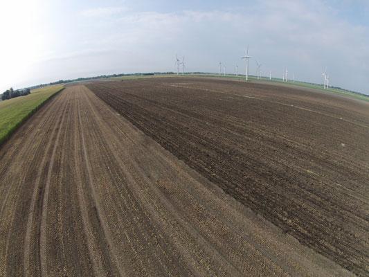 nach dem Mulchen wird der Boden ca. 35cm tief gelockert