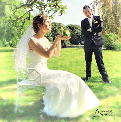 #lustige_Hochzeitsfotos_küssdenFrosch