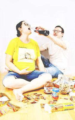 #Babybauchshooting #Zwillinge #Babybauch #Colorkey #Marienkäfer