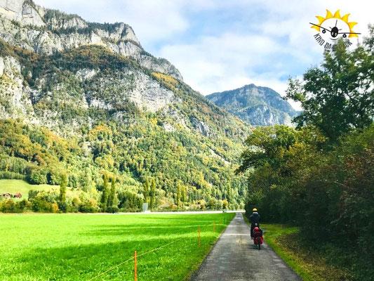 Auf geht die Radreise nach Sargans.