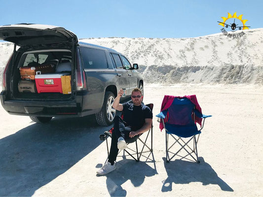 Picknick im White Sands NM.
