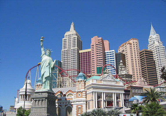 New York mitten in dern Wüste von Las Vegas.