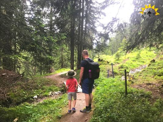 Durch den Inner Wald in Samnaun.