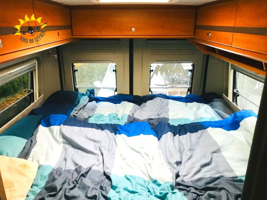 Das Bed des Freeway Camper.